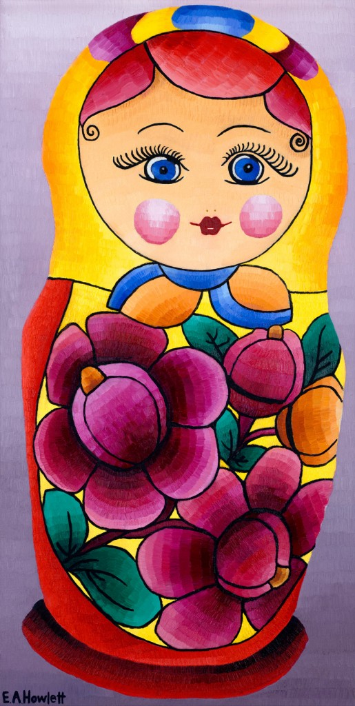 Babushka Doll, oil on canvas board, Elisabeth Howlett, 2015.
