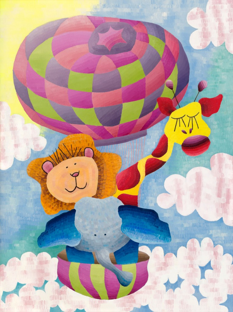 Alice's Hot Air Balloon, oil on canvas, Elisabeth Howlett, 2010.