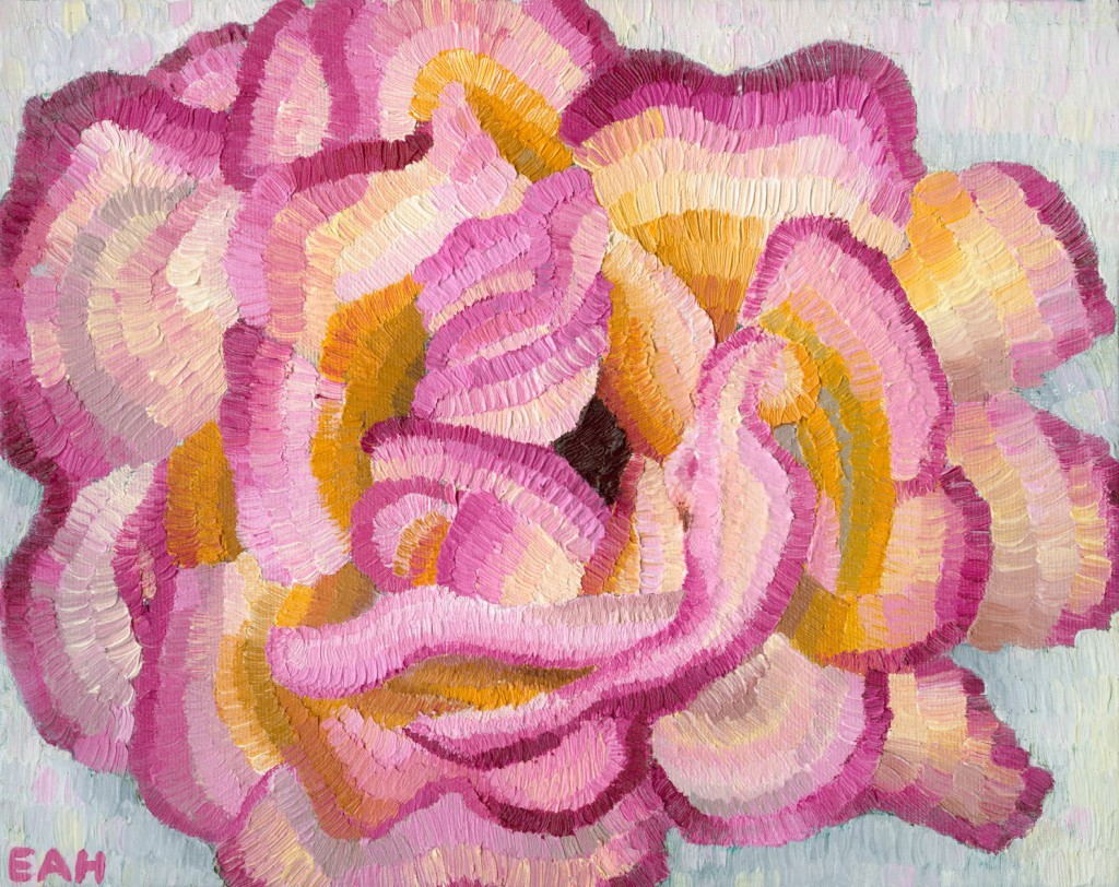 "Romney Rose, oil on canvas board, Elisabeth Howlett, 2013 Original Painting: 8 x 10"" / 20 x 25 cm"