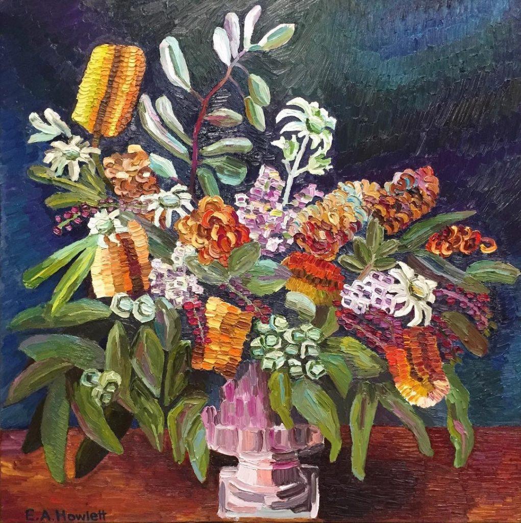 """Native Arrangement, oil on canvas, 30 x 30"""", Elisabeth Howlett"""