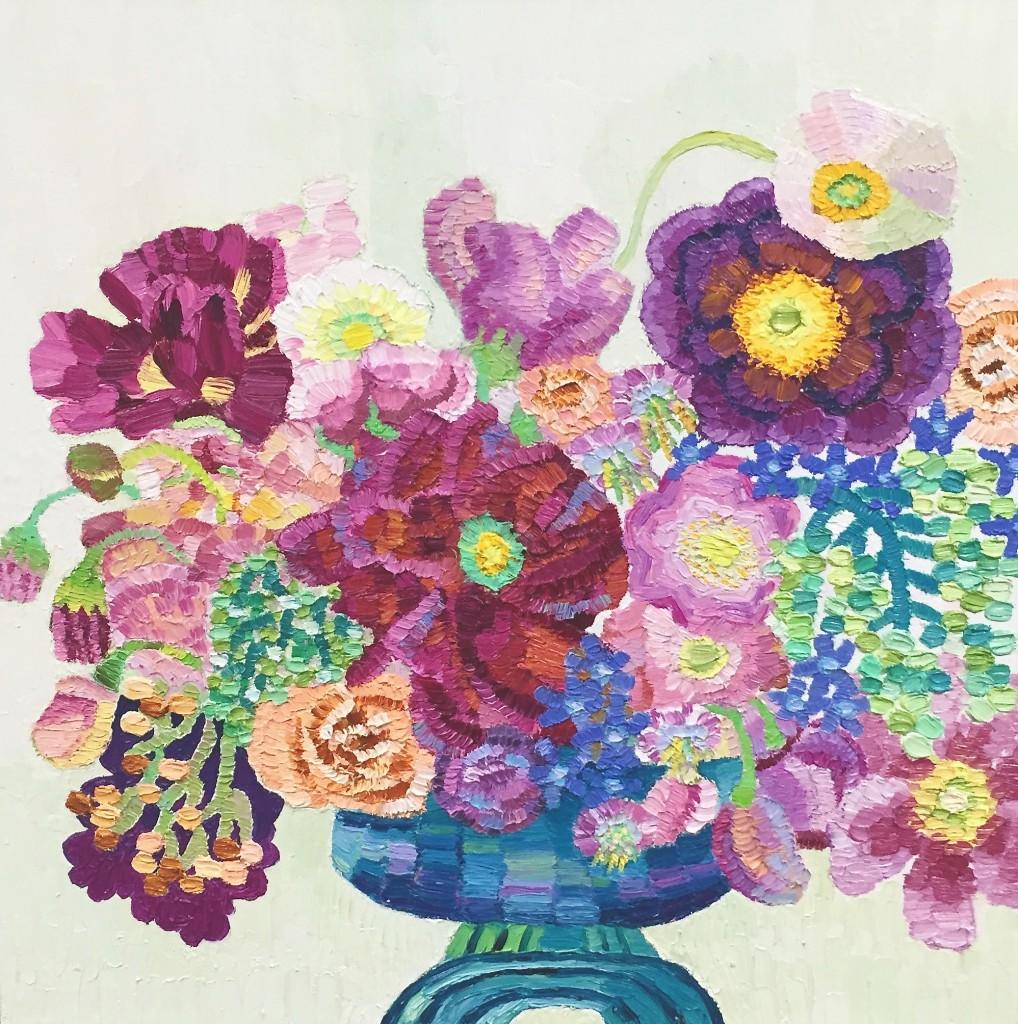 Olde Worlde Romance, oil on canvas, Elisabeth Howlett, 2016
