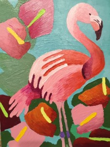 Flamingo No#1 with Anthurimums